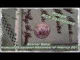 Обзор монеты номиналом 25 центов США Homestead National Monument of America 2015