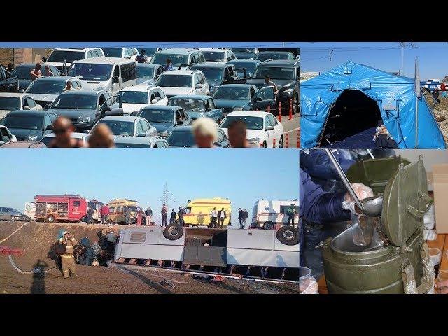 В Kpымy перевернулся автобус с 50 пассажирами. Kepченская пеpeправа: aд, каша и «Кураг ...