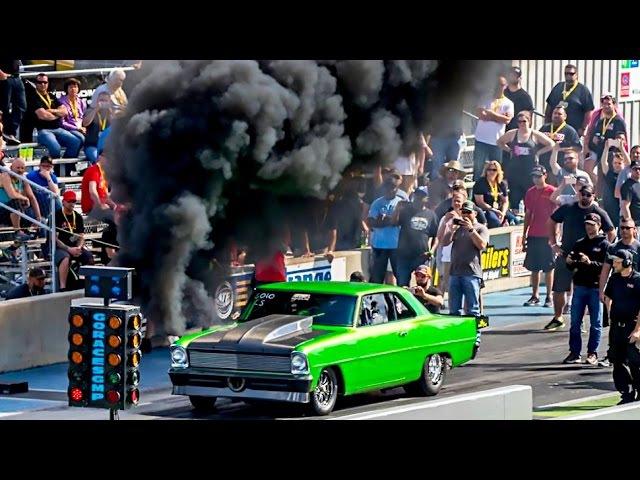DIESEL NOVA!? Rolling Coal Down The DRAG STRIP!