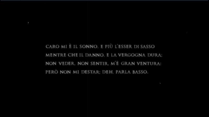 Michelangelo Buonarroti Caro mè l sonno