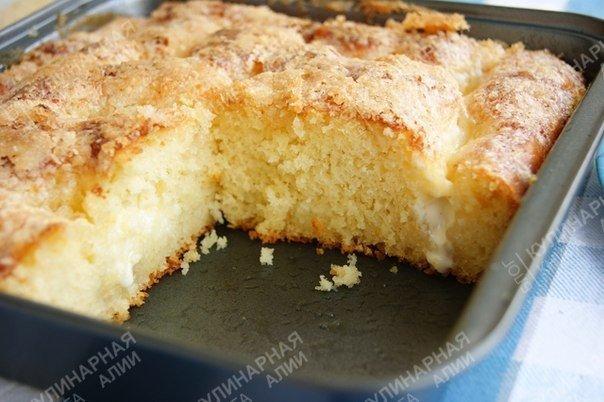 """Сахарный пирог. """"Безумно вкусный и простой сахарный пирог"""