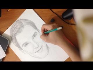 Бенедикт Камбербетч Шерлок Холмс Бенедикт Камбербэтч (Benedict Cumberbatch) Портрет карандашом