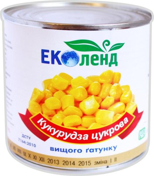 Кукурудза цукрова консервована, Еколенд, 425 г