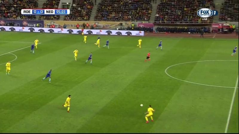 Футбол. Товарищеский матч 2017 / Румыния - Голландия. 1 тайм