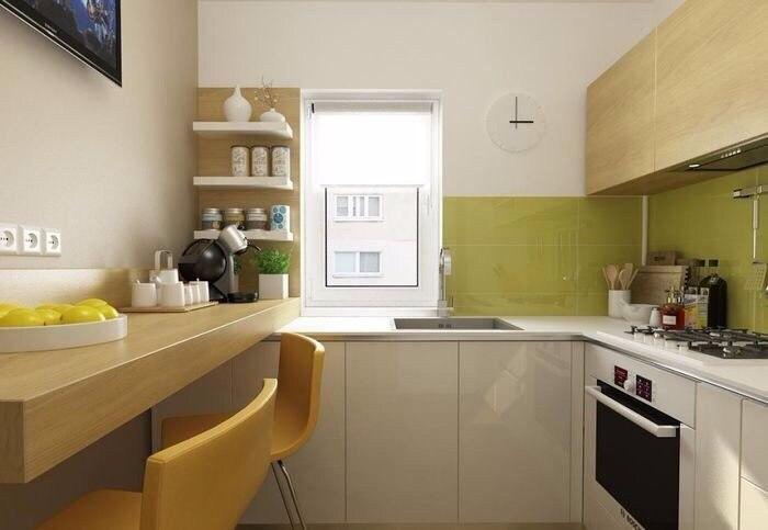 Дизайн маленькой кухни 6 кв.м.