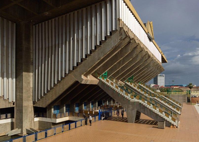 Modernist stadium in Cambodia captured in new