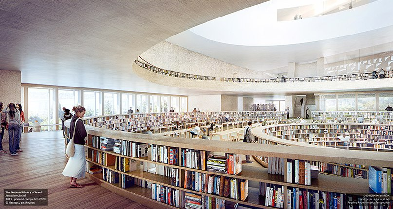 national library of israel by herzog