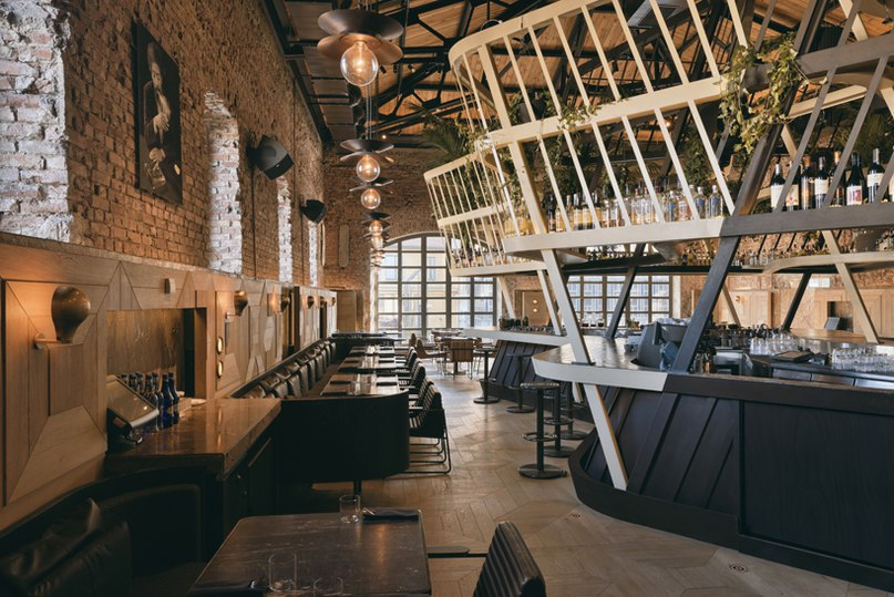 autoban sets kilimanjaro restaurant within warehouse in