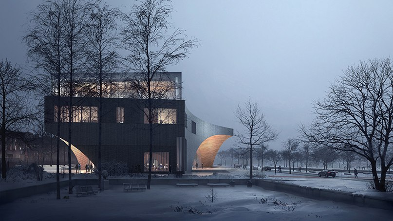 snøhetta unveils library design for philadelphia
