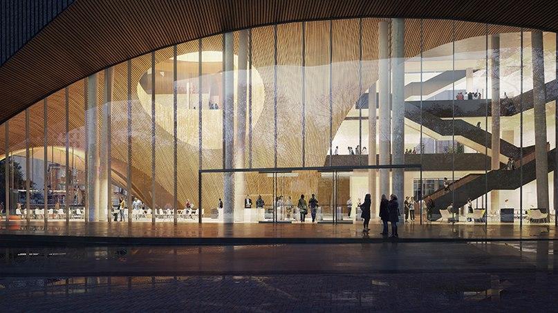 snøhetta unveils library design for philadelphia