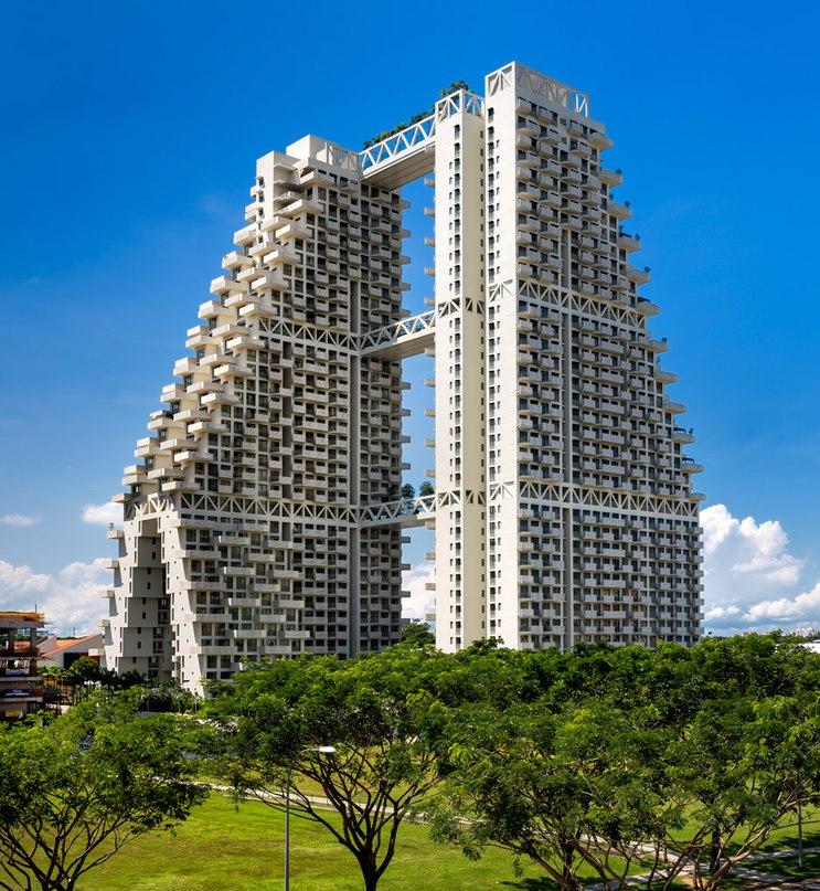 Moshe Safdie completes Singapore Sky Habitat featuring