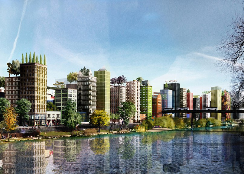 Anders Berensson Architects proposes colony of skinny