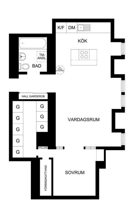 Часть 2. Как оформить квартиру-мансарду: 51 квадратный