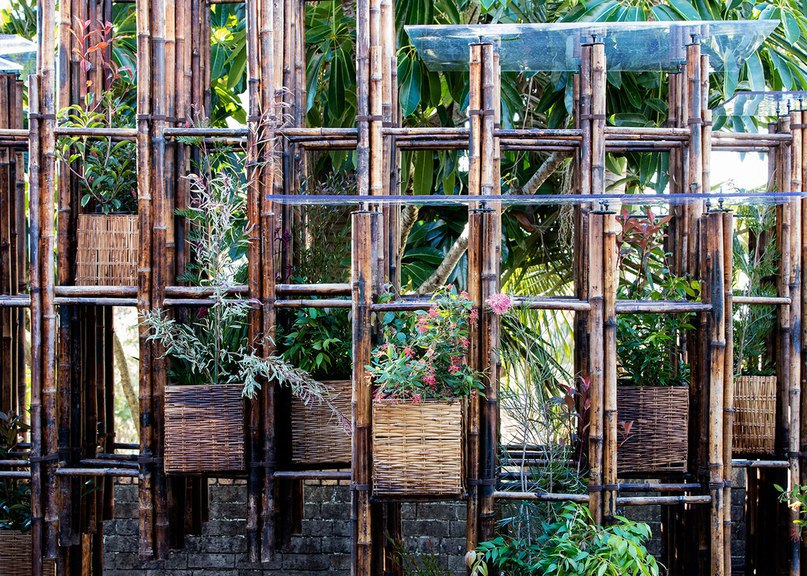 Vo Trong Nghia uses bamboo ladders to