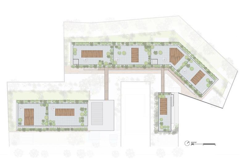 FGMF arquitetos integrates porches and gardens into