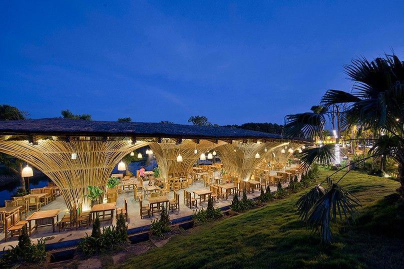 vo trong nghia completes lakeside bamboo restaurant