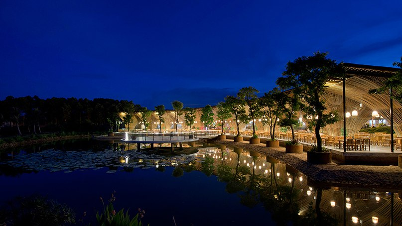 vo trong nghia completes lakeside bamboo restaurant