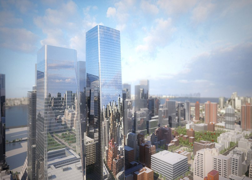 SOM reveals new images of Manhattan West