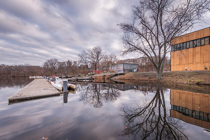 Pygmalion karatzas photographs community rowing boathouse in