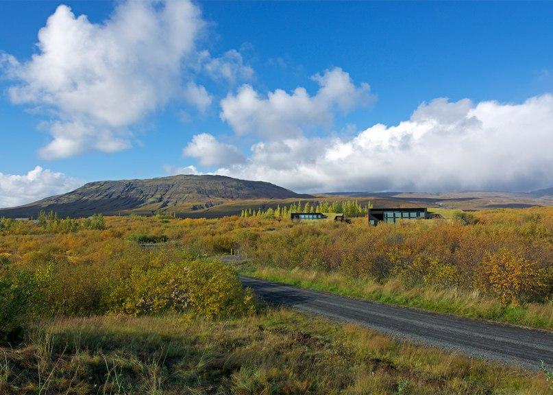 Rural Icelandic cottages by PK Arkitektar have
