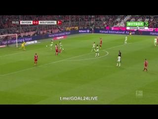 Бавария 1:0 Вольфсбург | Гол Левандовски (пен.)