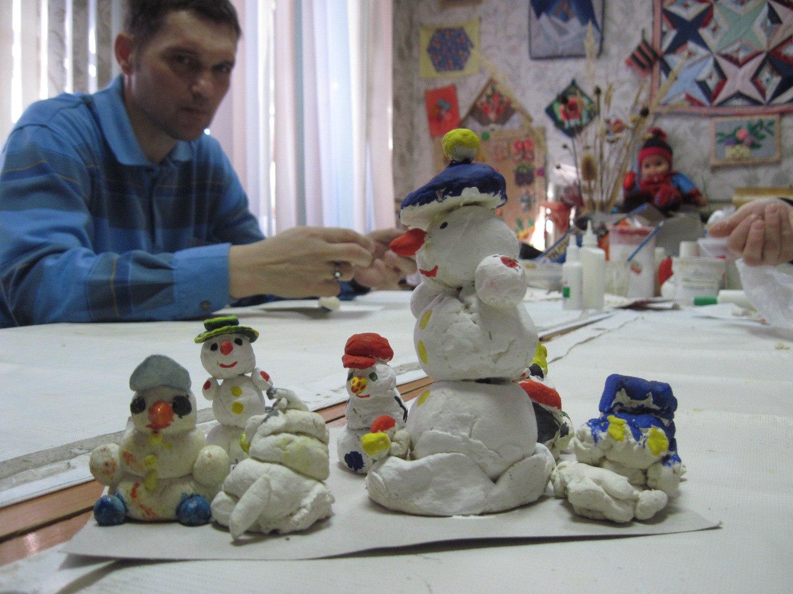 мастер-класс «Город снеговиков»
