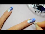 Chevron French manicure tutorial -  Lana Del Rey Born To Die inspired