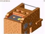 Компактная печь с камином