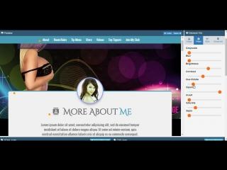 MyFreeCams profile design Mellany - Editing Process