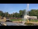 Ежедневный запуск фонтанов в Петергофе в 1100