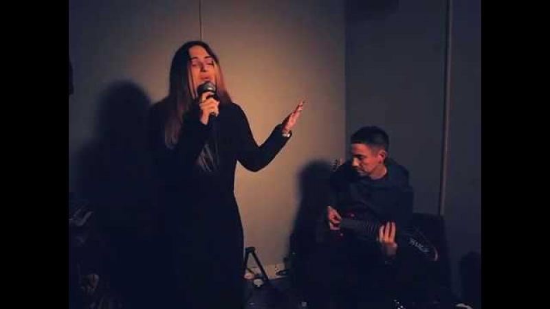 Diana Karbashian - Down on my knees (Ayo cover) rehearsal