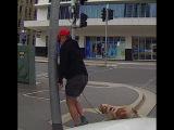 Разгневанный пешеход. Мгновенная карма. Видеорегистратор