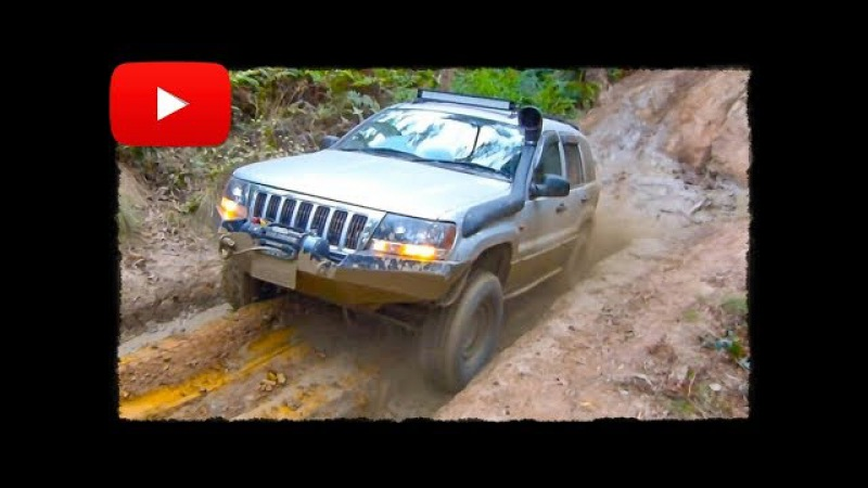 Jeep Grand Cherokee WJ 4.7L and Mazda BT-50 - off-road in mud