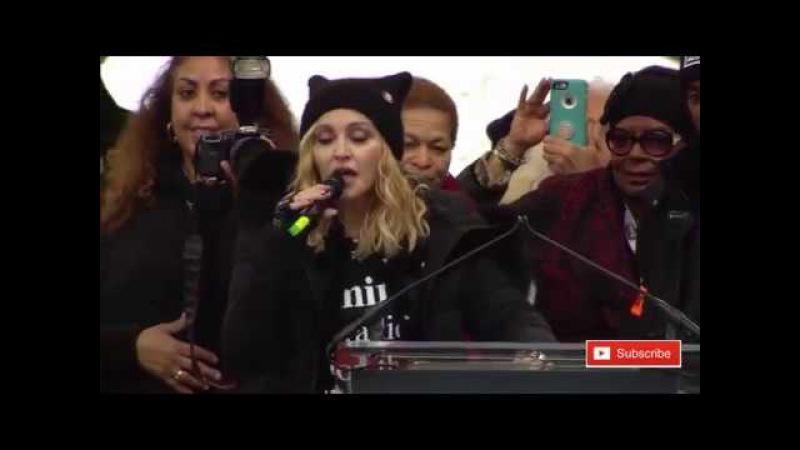 Madonna Womens March Speech Blowing Up The White House on Washington Anti Trump FULL SPEECH