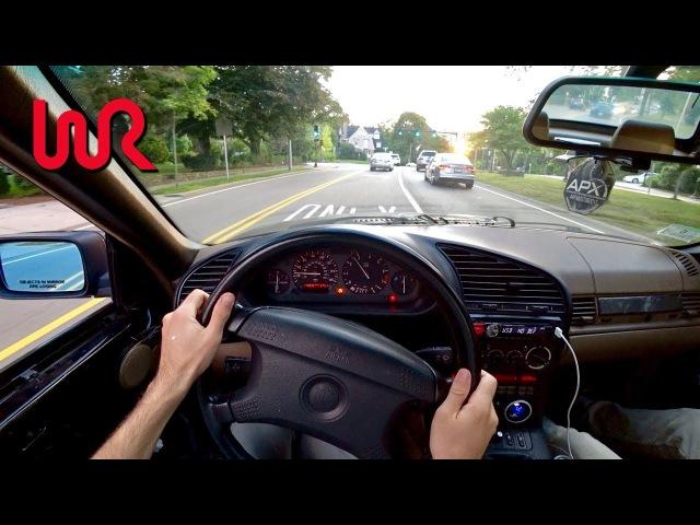 Big TURBO 1995 BMW 325i - Tedward POV Test Drive (Binaural Audio)
