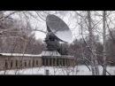 Спутниковая антенна космической связи, в Бугринской роще, странный объект.