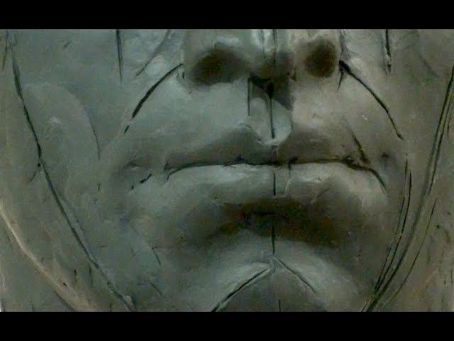 Уроки скульптуры и рисунка лепка головы часть 7 детализация продолжение