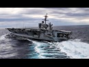 U.S. Navy Aircraft Carrier Performs High Speed Turns