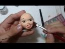 Rosto Em Biscuit COMPLETO Modelagem Pintura e cílios Luiz Costa