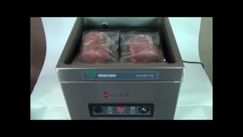 Вакуумная упаковка свежего мяса в пакеты