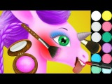 Fun Animal Care Kids Games Hair Salon Maker Up - Fairyland 3 Unicorn Family - Games for girls