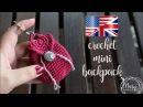 Crochet Miniature Backpack MARYJ HANDMADE