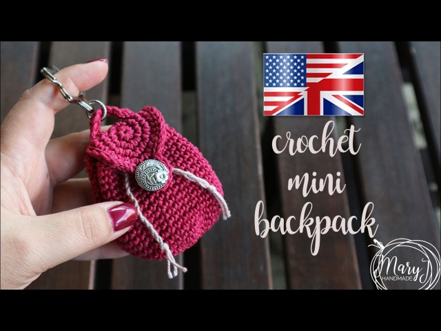 Crochet Miniature Backpack | MARYJ HANDMADE