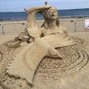 Лучшие работы, представленные на фестивале песчаных скульптур, проходящем сейчас в Бостоне.