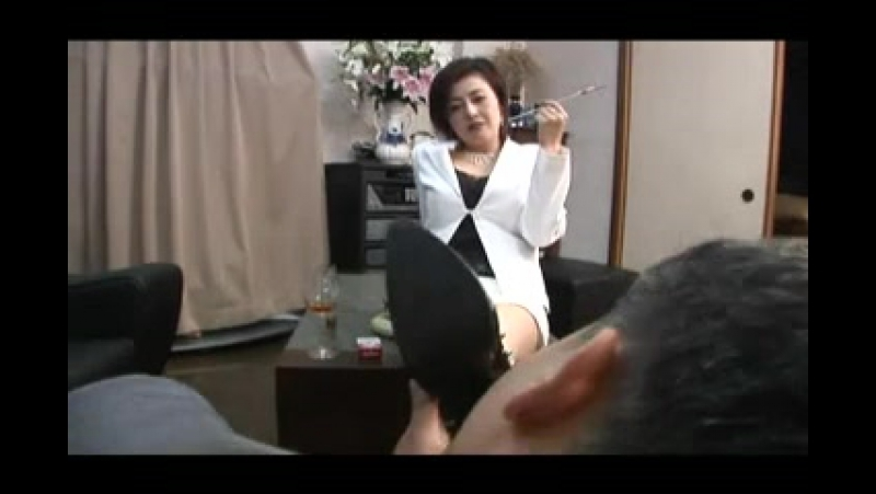 Asian Foot Femdom Smoking with Cigarette