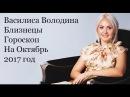 Близнецы Василиса Володина Октябрь 2017 год