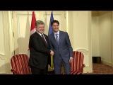 Порошенко встретился с премьер-министром Канады Джастином Трюдо
