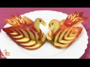 How to Make Apple Swan Garnish - Fruit Carving Video For Beginners