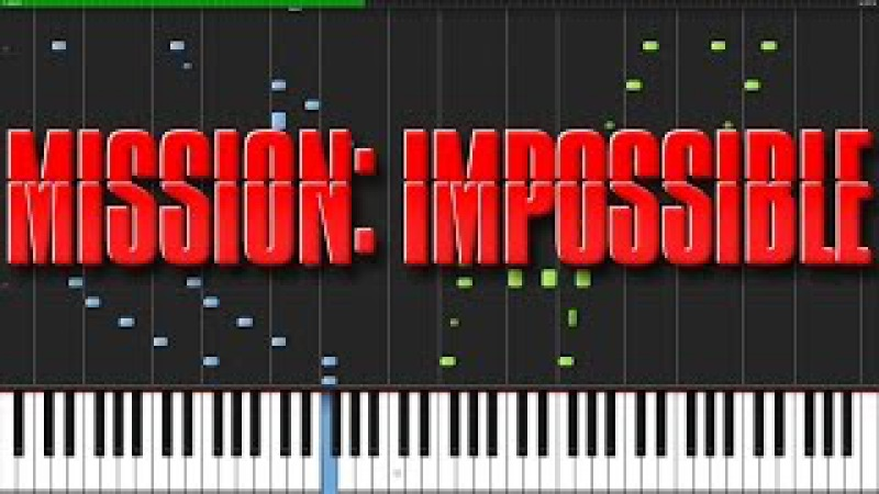 Mission Impossible Theme [Piano Tutorial] (Synthesia) Akmigone