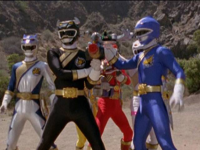 Power Rangers vs Org Generals (Power Rangers Wild Force).